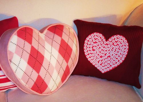 In His Grip: Valentine Sweater Pillows