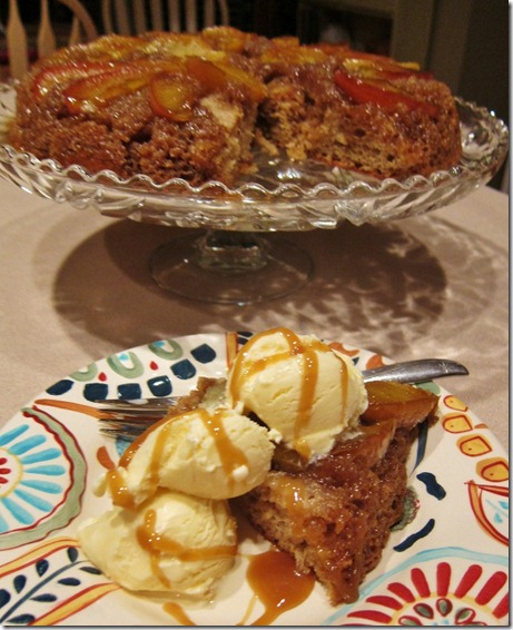 Caramel Apple Skillet Cake1