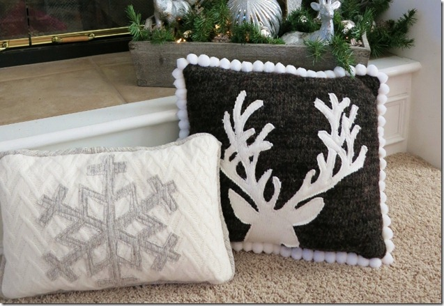 Upcycle Sweater Pillow 3
